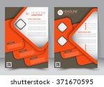 abstract flyer design... | Shutterstock .eps vector #371670595