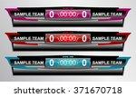 scoreboard sport game for... | Shutterstock .eps vector #371670718