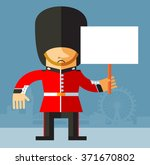 the queen's guard holding a... | Shutterstock .eps vector #371670802