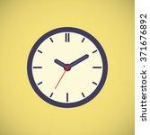 vector icon. clock | Shutterstock .eps vector #371676892