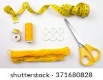 Yellow Sewing Accessories And...