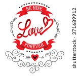 love labels for valentine's day | Shutterstock .eps vector #371689912
