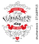 love labels for valentine's day | Shutterstock .eps vector #371689915