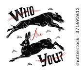 poster of vintage hipster label ... | Shutterstock .eps vector #371692612