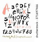 alphabet letters lowercase ... | Shutterstock .eps vector #371697466