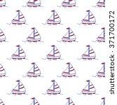 seamless baby vector pattern.... | Shutterstock .eps vector #371700172