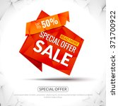 sale tags graphic elements in... | Shutterstock .eps vector #371700922