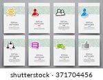 corporate identity vector... | Shutterstock .eps vector #371704456