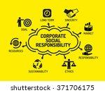 corporate social responsibility.... | Shutterstock .eps vector #371706175