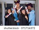 diverse international students...   Shutterstock . vector #371716372