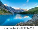 moraine lake in banff national... | Shutterstock . vector #371716612
