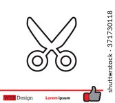vector scissors line icon | Shutterstock .eps vector #371730118