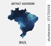 brazil map in geometric... | Shutterstock .eps vector #371731018
