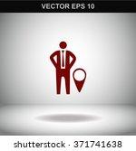 location symbol  businessman...