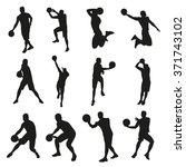 Basketball Players  Set Of...