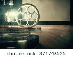 vintage film camera with old... | Shutterstock . vector #371746525