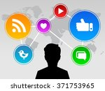social media design with a... | Shutterstock .eps vector #371753965