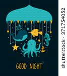 vector illustration with cute... | Shutterstock .eps vector #371754052