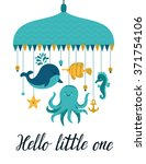 vector illustration with cute... | Shutterstock .eps vector #371754106