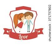 love icon design  | Shutterstock .eps vector #371757802