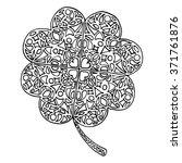 doodle zentangle clover...   Shutterstock .eps vector #371761876