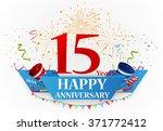 anniversary celebration... | Shutterstock . vector #371772412