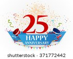 anniversary celebration... | Shutterstock . vector #371772442
