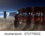alien planet   fantasy... | Shutterstock . vector #371775022