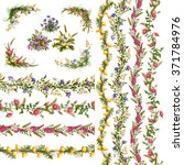 Vector Floral Horizontal And...