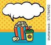 popcorn doodle  speech bubble | Shutterstock .eps vector #371786902