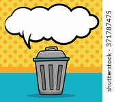 trash can doodle  speech bubble | Shutterstock .eps vector #371787475