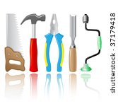 vector icons of joiner's tools. ...   Shutterstock .eps vector #37179418