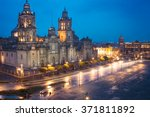 metropolitan cathedral and... | Shutterstock . vector #371811892