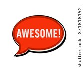 awesome wording on red speech... | Shutterstock . vector #371818192