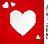 white  paper hearts valentines... | Shutterstock .eps vector #371834962