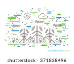 linear air electric station ... | Shutterstock .eps vector #371838496
