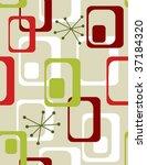 christmas seasonal  wallpaper   ... | Shutterstock .eps vector #37184320