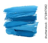 blue watercolor paint stain... | Shutterstock . vector #371847082