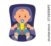 toddler wearing a seatbelt in... | Shutterstock .eps vector #371850895