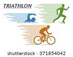 vector logo triathlon on a... | Shutterstock .eps vector #371854042