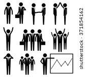 business businessman group... | Shutterstock .eps vector #371854162