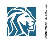lion rectangular abstract | Shutterstock .eps vector #371859262