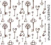 vintage keys. seamless pattern. ... | Shutterstock . vector #371859652
