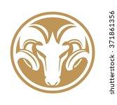 rams circle emblem | Shutterstock .eps vector #371861356