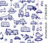 baby cars seamless pattern.... | Shutterstock .eps vector #371861818