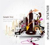 music city | Shutterstock .eps vector #37187608