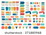 mega set of infographics flat... | Shutterstock .eps vector #371885968