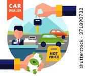 buying car design concept set...   Shutterstock .eps vector #371890732