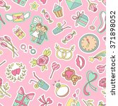 seamless pattern with love... | Shutterstock .eps vector #371898052