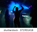 silhouettes of people dancing... | Shutterstock . vector #371901418